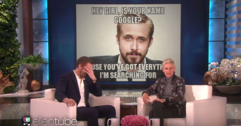 "You will fall in love with Ryan Gosling even more after you see him blush at ""Hey Girl"" memes"