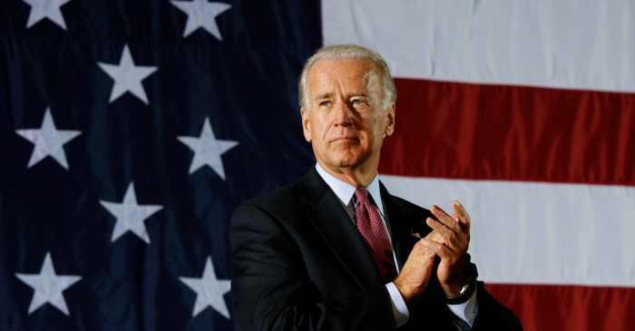 Joe Biden points to what he believes is the downfall of a leader