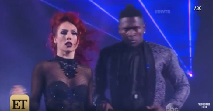 Viewers got an eyeful during Sharna Burgess' live wardrobe malfunction on DWTS