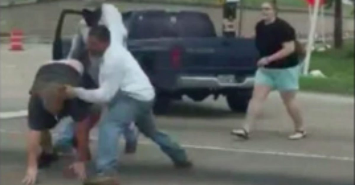 This couple got a huge helping of Texas road rage and things got ugly fast