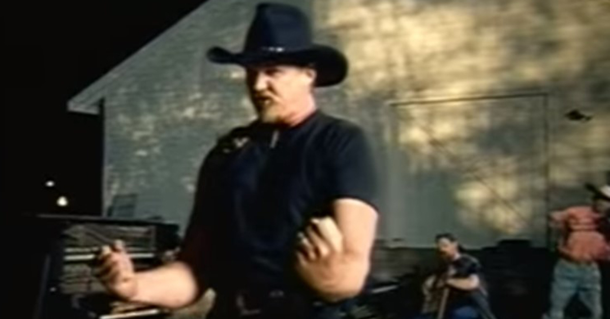 """Remember when a """"rough and ready"""" Trace Adkins took on a baby-faced NASCAR superstar?"""