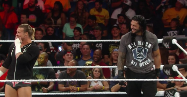 "Things got so funny on WWE ""Raw"" that even the wrestlers had to laugh"