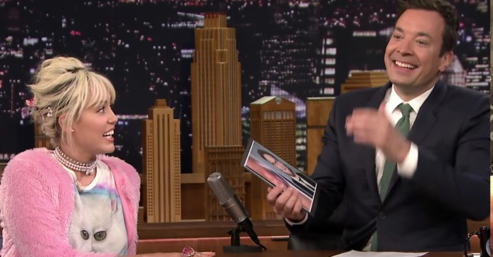 Surprise, surprise — Jimmy Fallon can't hold in his laughs when he finds out what part of Miley looks like Seth Rogen