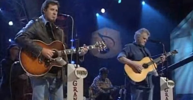The late Guy Clark joined Vince Gill on the Opry stage to breathe life into this beautiful duet