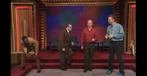 "This hilarious ""Whose Line"" blooper completely floored the entire cast and crowd"