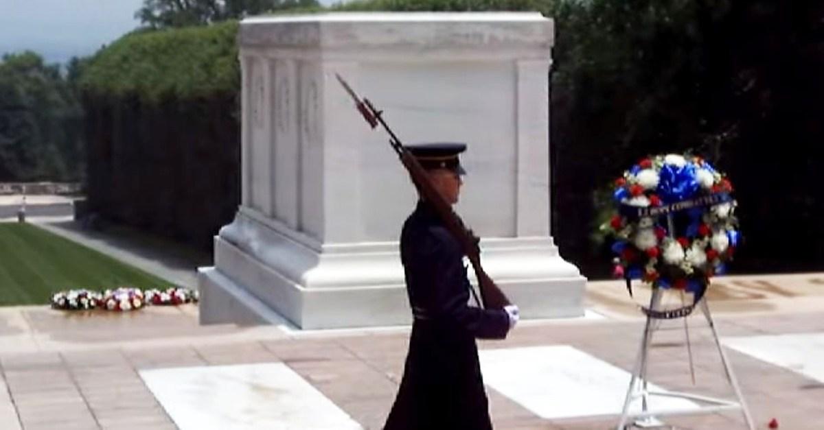 An Arlington guard didn't hold back his tongue for disrespectful visitors
