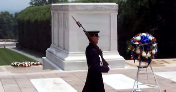 An Arlington guard didn't hold back his tongue for disrespectful visitors