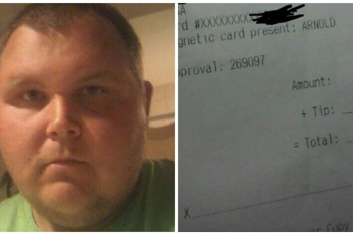 A restaurant owner fired his own son after a customer noticed this written on his receipt