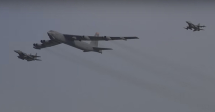 Check out this B-52 deterrence run over South Korea
