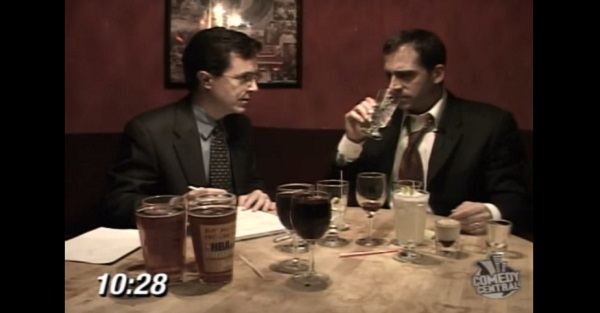 Steve Carell once teamed with Colbert to teach us about drinking responsibly