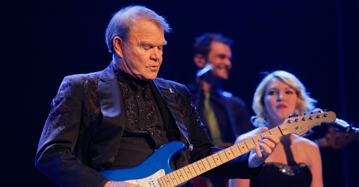 "Glen Campbell's children help him say ""Adios"" with final album"