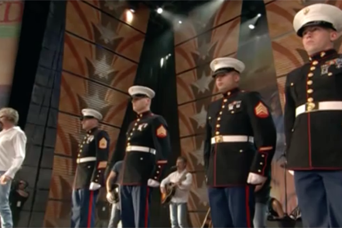 Brooks & Dunn created the ultimate country moment when they invited these Marines onstage