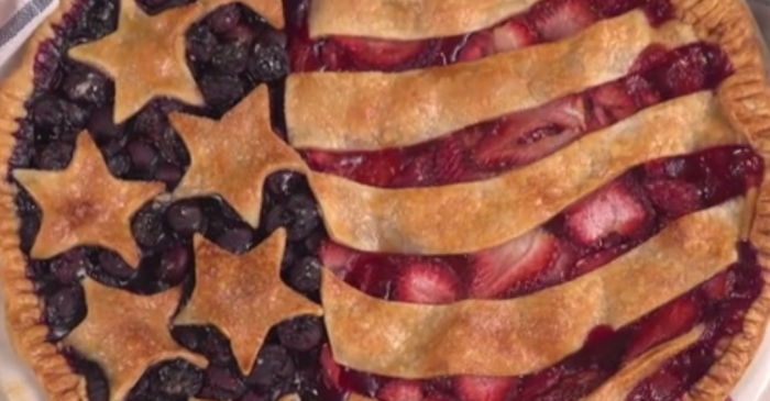 No dessert is more patriotic than this gorgeous Old Glory Berry Pie