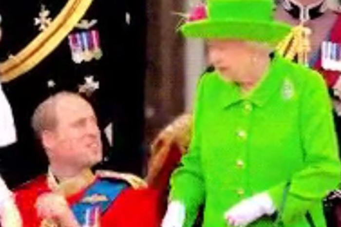 Little Prince George had the funniest reaction after the Queen scolded his father, Prince William