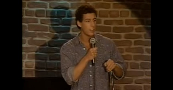 Watch as a young Adam Sandler predicts his own success in this classic stand-up clip about why he won't tip a cab driver