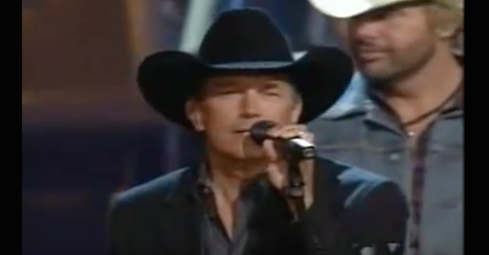 Everyone from George Strait to Toby Keith joined in on this once-in-a-lifetime country singalong