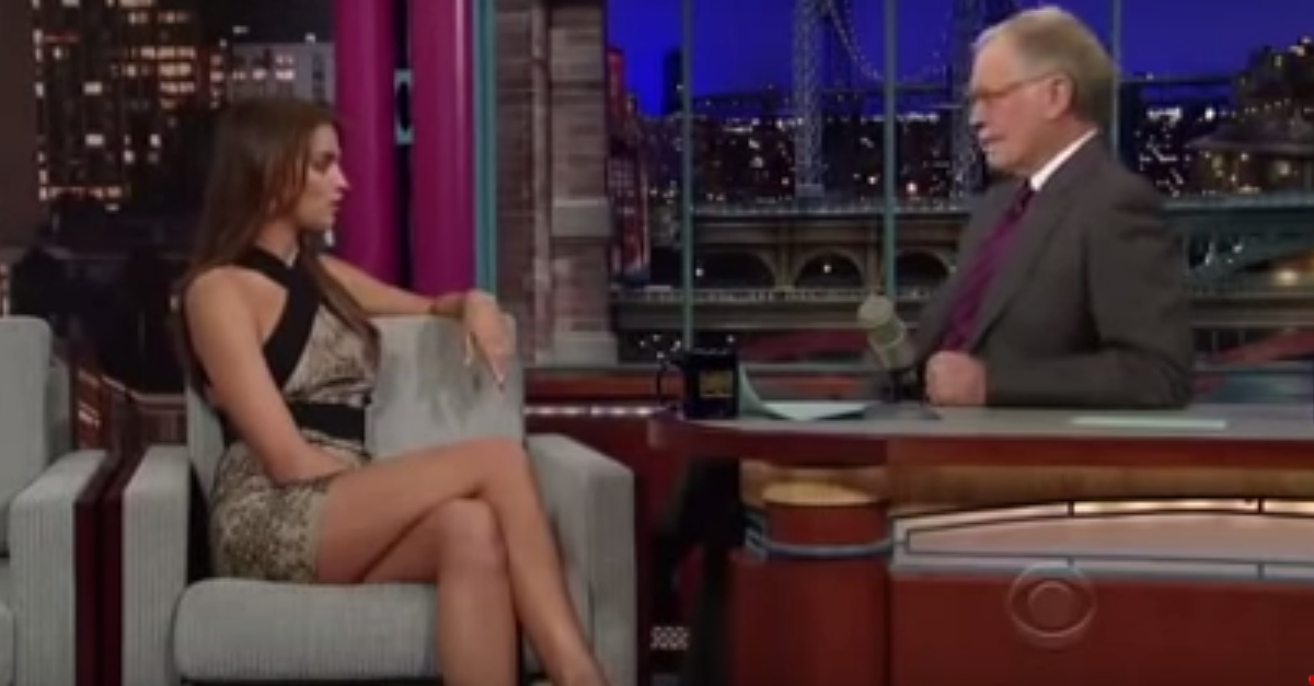 We can't keep our eyes off Russian model Irina Shayk in this Late Show throwback