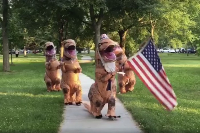 Celebrate the Fourth of July with baton twirling, firecrackers and T.rex good times
