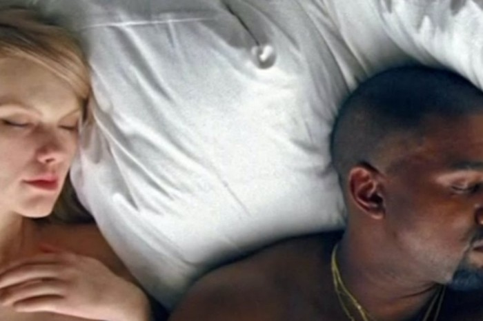 """Kanye West pours a gallon of gas on his feud with Taylor Swift by showing her """"naked"""" in NSFW video"""
