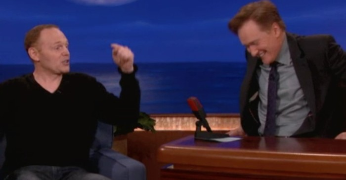 Conan could barely keep it together during Bill Burr's hilarious monologue on Oprah