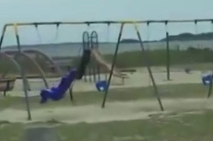 Dad Captures Video of Ghost Moving Playground Swing While His Frightened Kids Watch