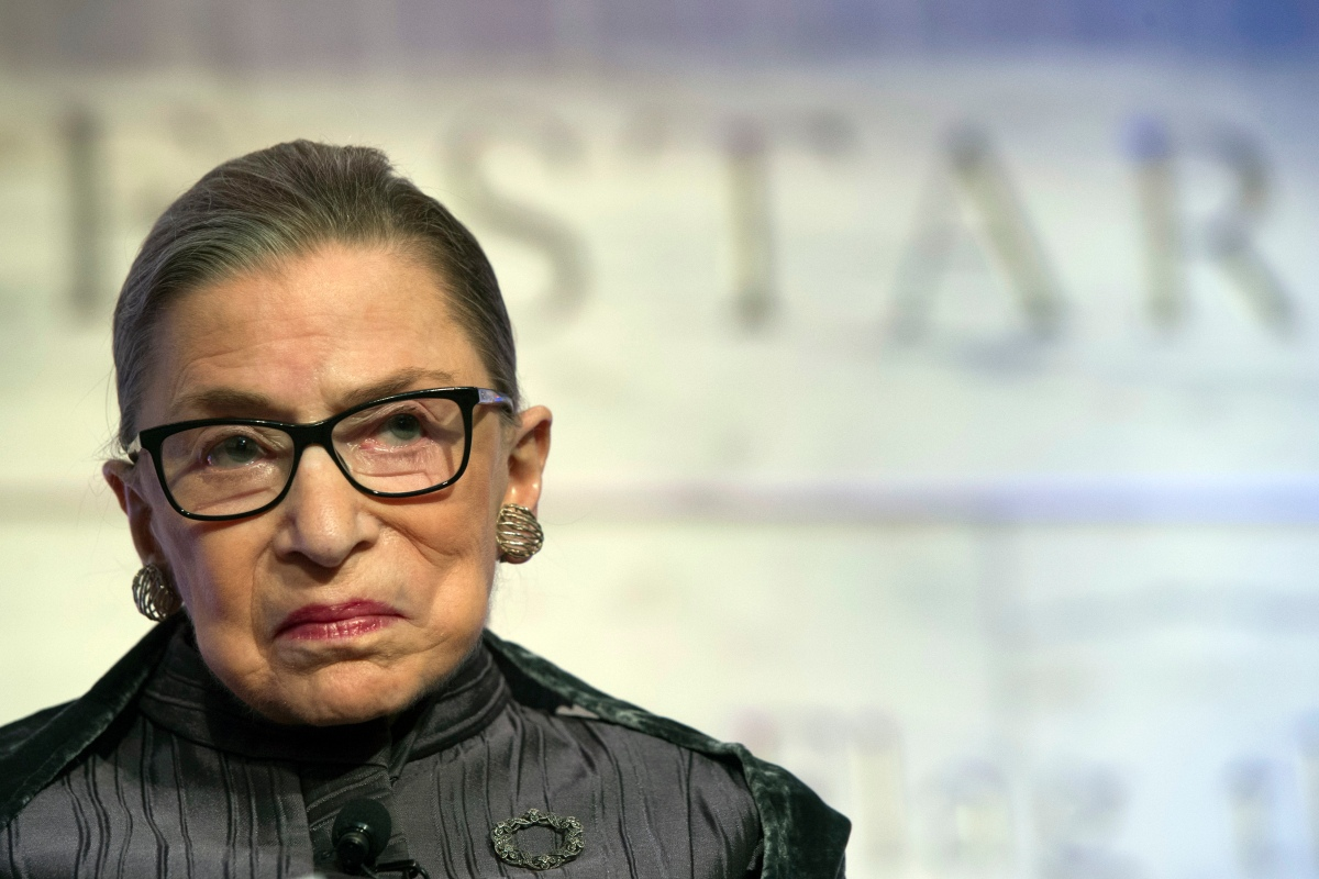 Justice Ruth Bader Ginsburg longs for the days when political discourse wasn't as partisan