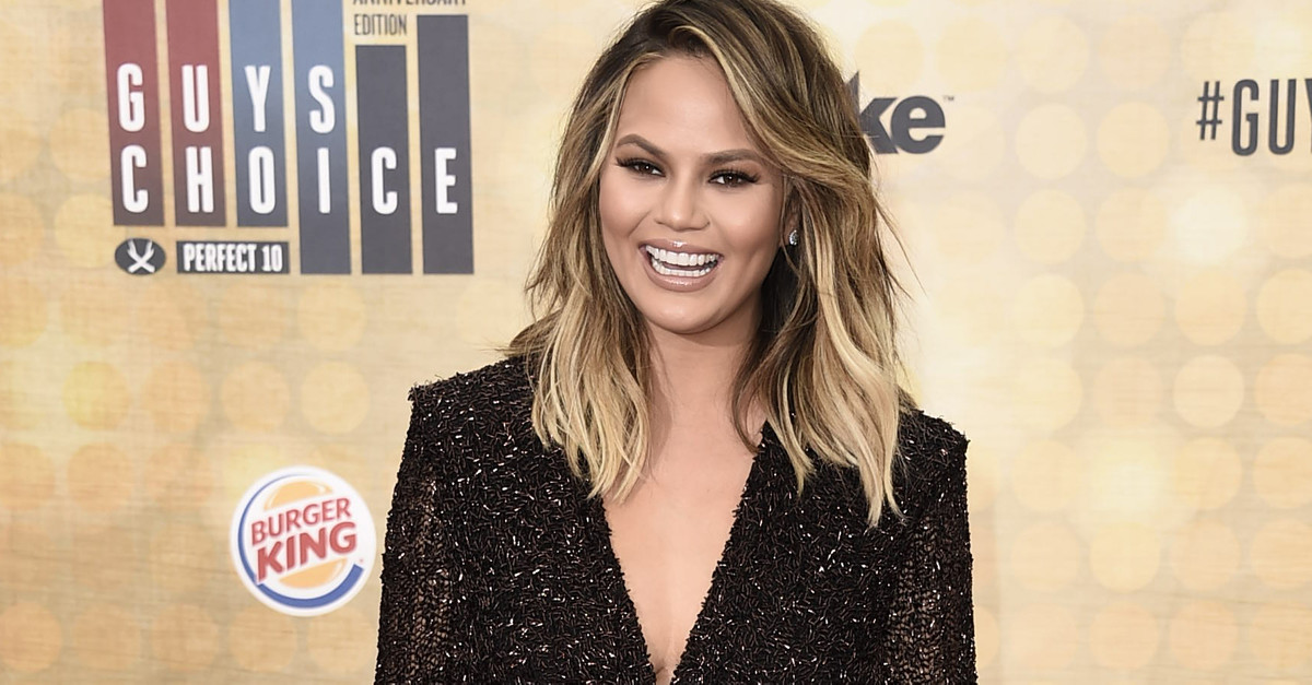 Chrissy Teigen placed President Trump as the cause for a medical crisis and said it's time for him to pay up