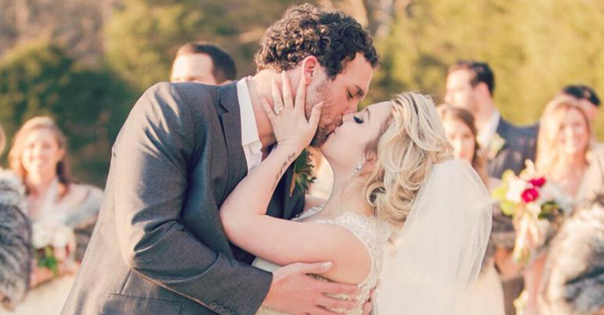 This sweet country star's husband said goodbye before Valentine's Day to serve his country