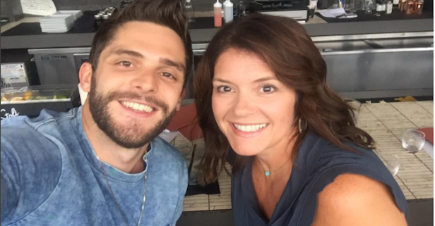 The story behind this Thomas Rhett selfie is going to melt your heart