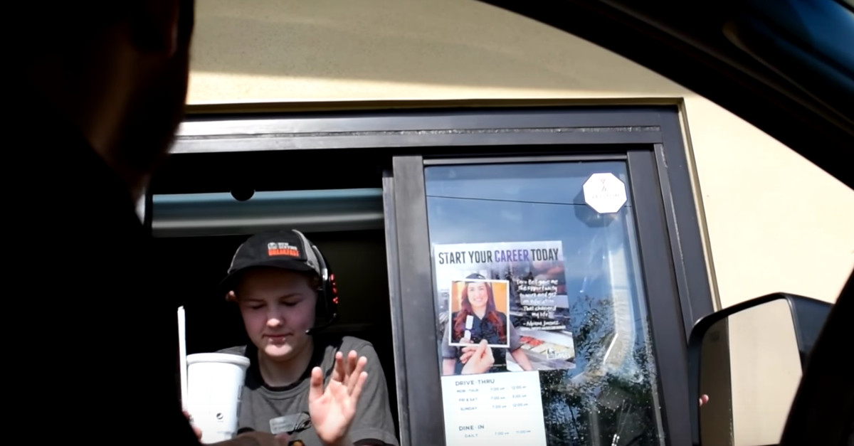 Revenge came swift from this Taco Bell employee after some dudes in a truck decided to prank her