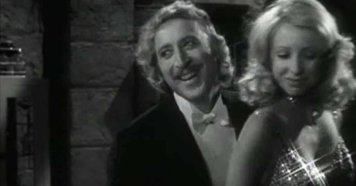 "Gene Wilder and Teri Garr couldn't stop cracking each other up in these bloopers from ""Young Frankenstein"""