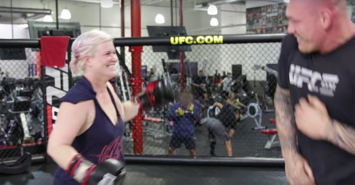 Regular people try punching a UFC fighter and the results are just as you'd expect