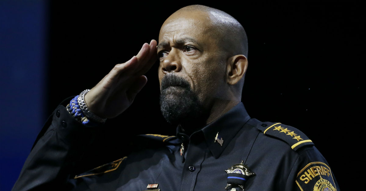 Sheriff David Clarke might need to be worried about his chances for re-election in Milwaukee
