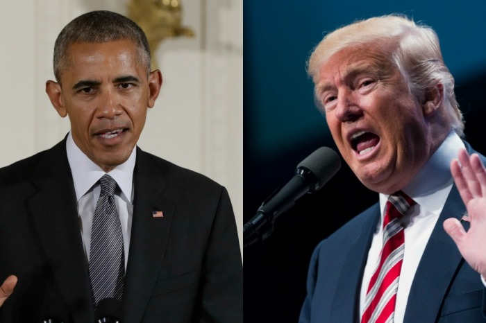 "Trump lashes out at Obama and accuses him of refusing to prevent something that he once called ""fake news"""