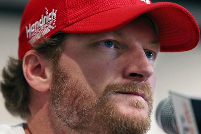 Dale Earnhardt Jr. gets emotional during tribute to fallen racer