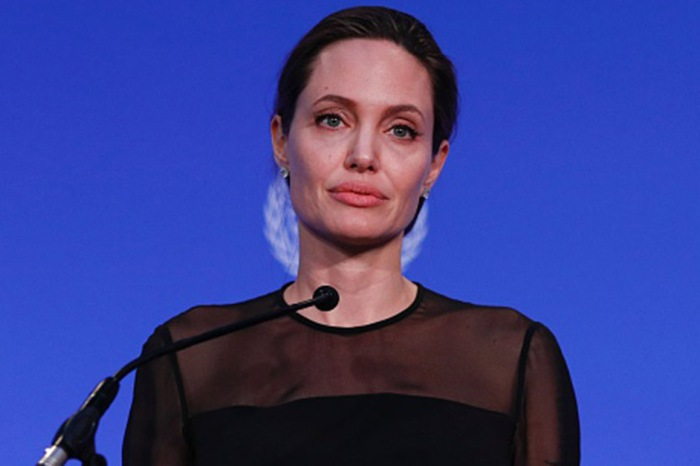 Angelina Jolie wrote an op-ed about President Trump's immigration policy and she doesn't seem happy