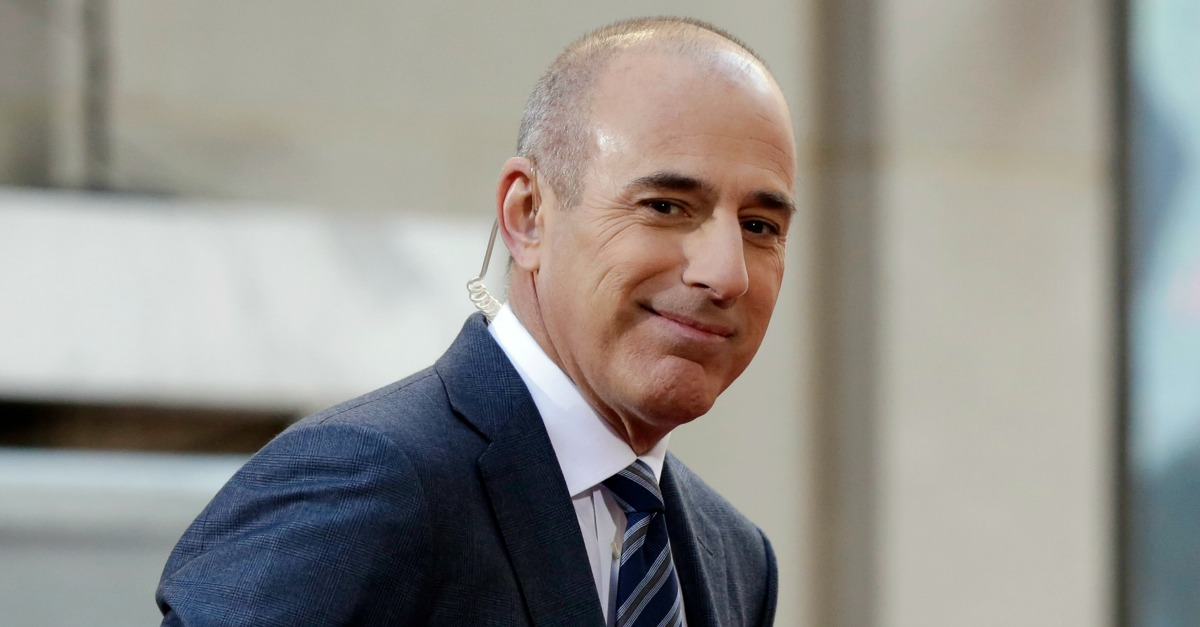 """Despite all of the rumors, Matt Lauer thought he would never be fired from his job on """"TODAY"""""""