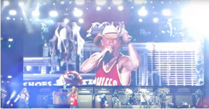 Watch Kenny Chesney get his sexy on in this hot tour clip