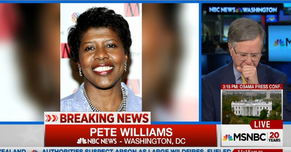 NBC News' Pete Williams choked up and struggled to report the passing of Gwen Ifill