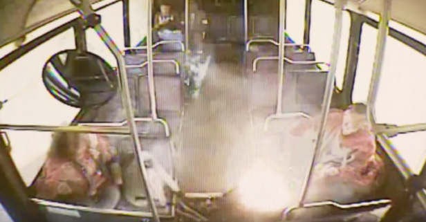 Watch as Man's E-Cigarette Explodes in His Pocket While Riding Bus