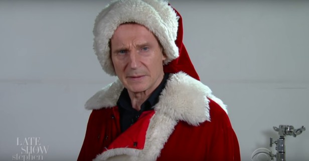 Santa knows if you've been bad or good, which is terrifying when Santa is Liam Neeson