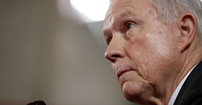Jeff Sessions emerged unscathed from his first day of confirmation hearings
