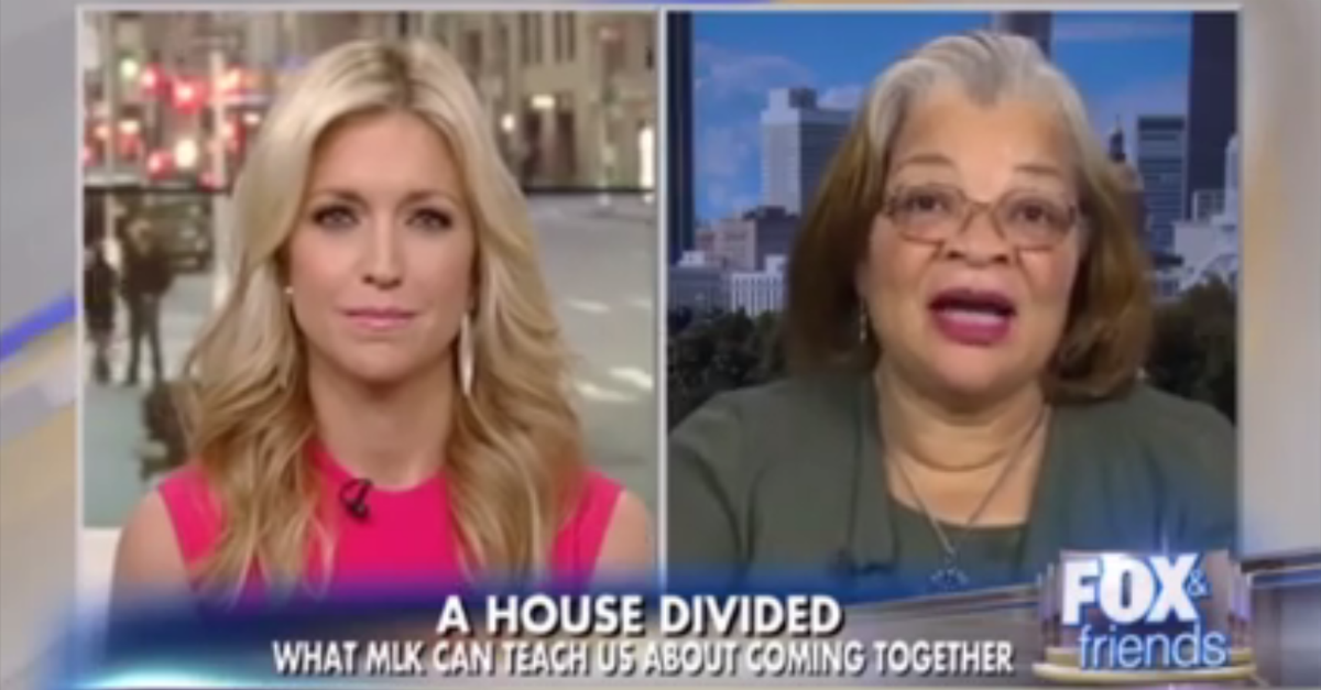 Martin Luther King Jr.'s niece had a message of peace for Donald Trump and John Lewis