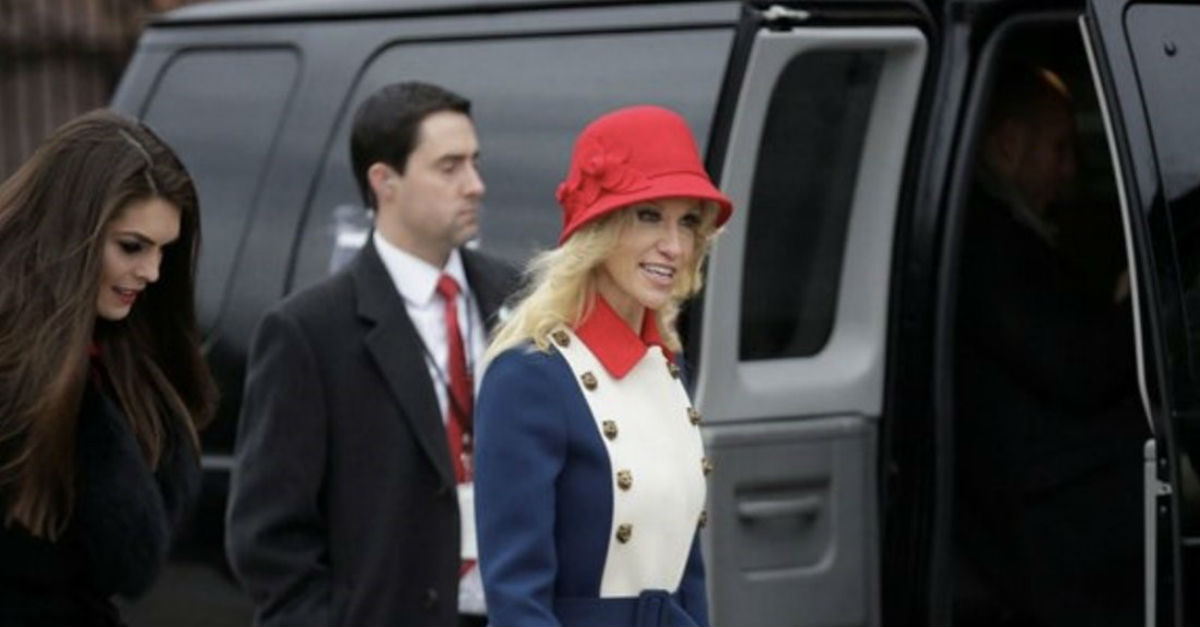 Kellyanne Conway showed up to the inauguration and all people could talk about was her outfit