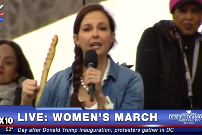 One actress who took the stage at the Women's March on Washington delivered a clear message to Donald Trump