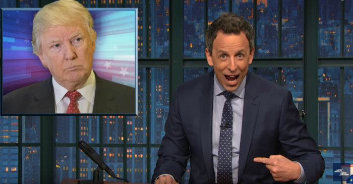 Seth Meyers put the president-elect on blast for his attacks on John Lewis