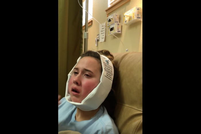 This girl was on anesthesia when her mom told her that her favorite restaurant closed