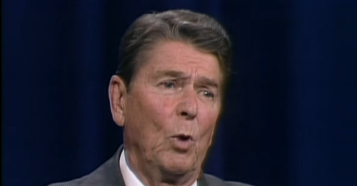 Ronald Reagan was President of the U.S. and king of the one-liner
