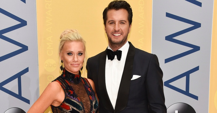 Luke Bryan and his wife had several big reasons to celebrate New Year's Eve