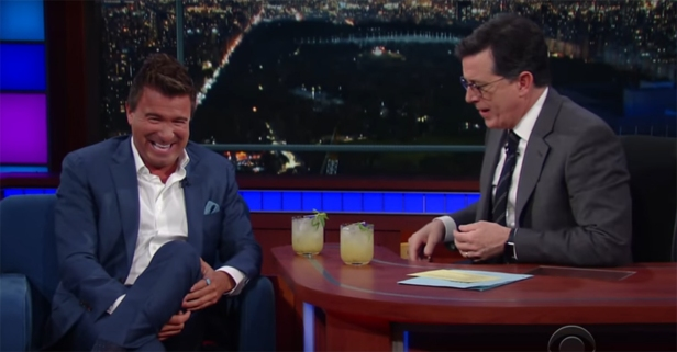 Colbert got a bit buzzed on his show off of — no, really — an ant-butt mojito